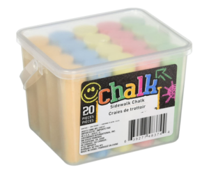 Sidewalk Chalk, Five Colors, Four of Each