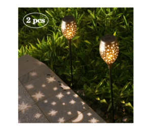 Star Moon Solar Path Lights 2 Piece Set