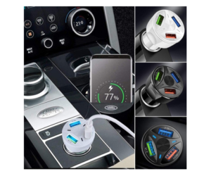 USB Car Charger with 3 Charging Ports