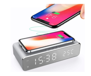 Digital Alarm Clock with Phone Charging Dock