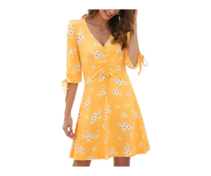 Floral V Neck Dress, in 3 Color Choices