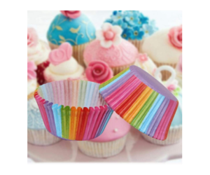 Muffin Cup Cake Liners in Rainbow Colors