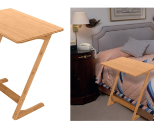 Portable Bamboo TV Tray & Side Table