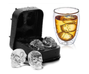Silicone Ice Cube Molds in Skull Shape