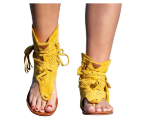 Summer Sandals with Lace Up Feature