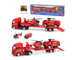 Toy Vehicle Playsets in Fire, Military, Police or Construction