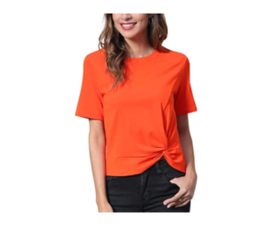 Twist Knot, Short-Sleeved Blouses for Women