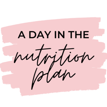 """A day in the """"Nutrition plan"""""""