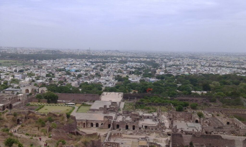City view from Golconda Fort