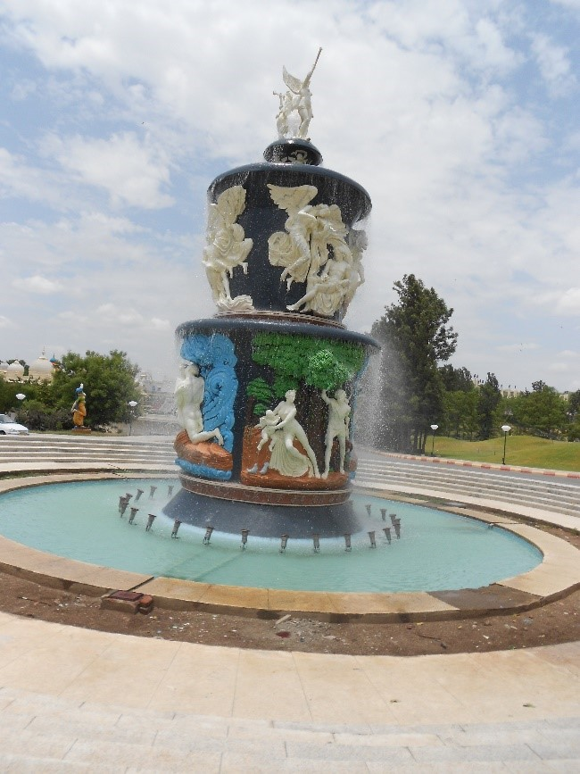 Majestic Fountain at the Entrance of ramoji film city