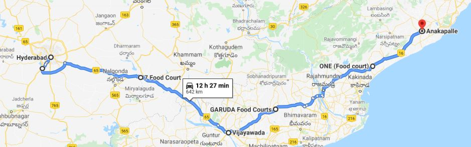 Hyderabad - Anakapalle