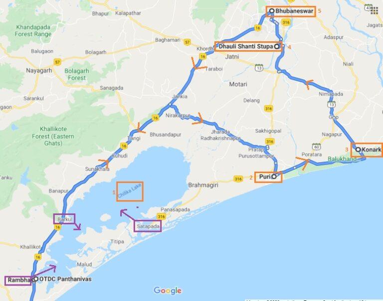 Odisha Itinerary