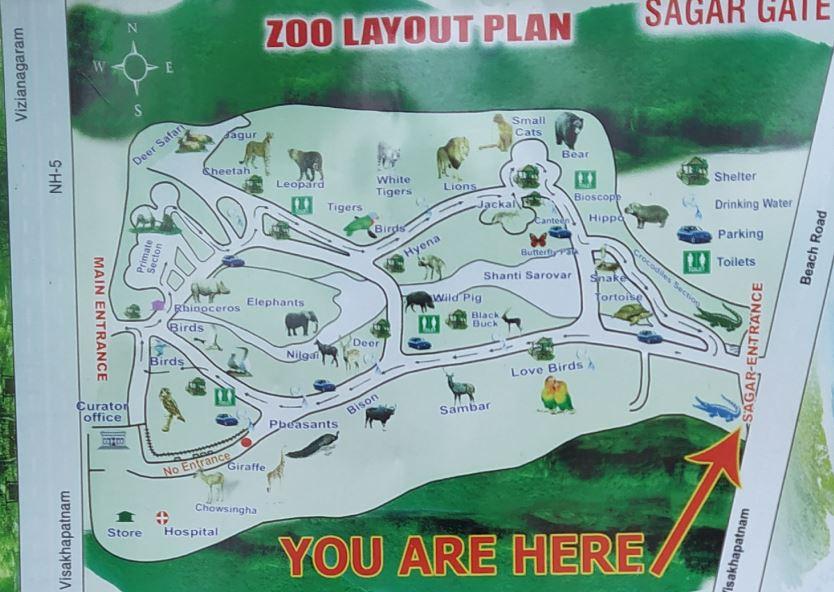 Vizag Zoo-map