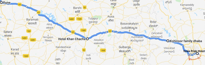 Hyderabad- Pune