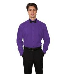 colored wing tip tuxedo shirt