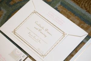 1920s Great Gatsby Themed Wedding Gold Wedding Stationery and Invitations