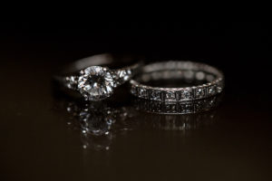 Round Cut Bridal Engagement Ring with Wedding Band