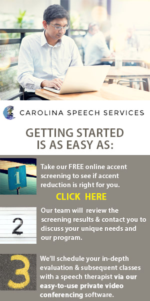 Online Accent Reduction Classes - Carolina Speech Services