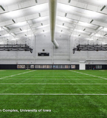 Hawkeye Tennis & Recreation Complex, University of Iowa. Courtesy of Brian Barkley Photography.