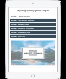 Improving team engagement program videos