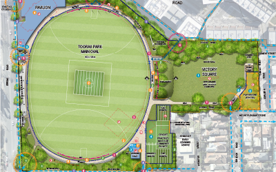 Toorak Park – dog park and playground upgrade