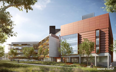 A fresh modern landscape for the CSIRO Black Mountain Campus