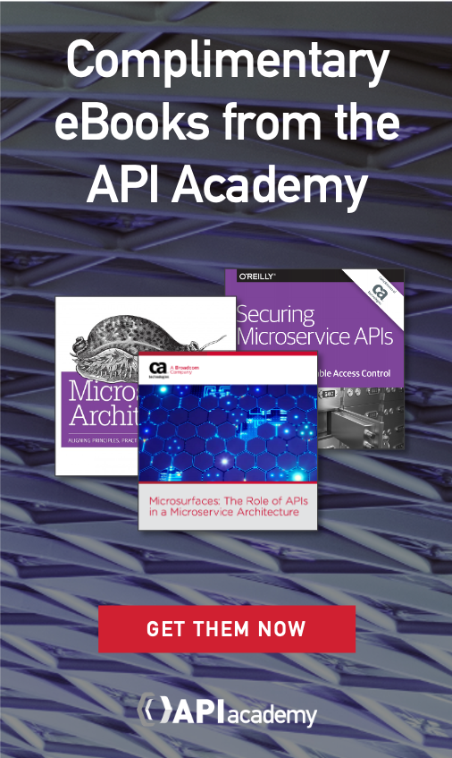 Free API books from the API Academy