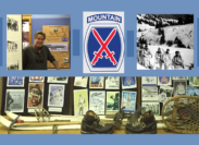 Craig Beck creates another great display~Honoring the 10th Mountain Division!
