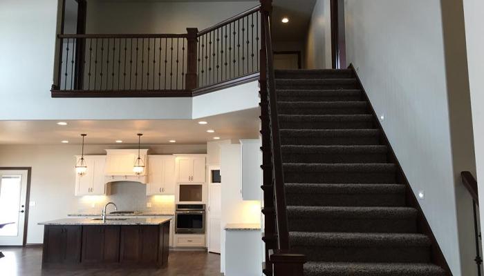 Interior shot of custom home kitchen