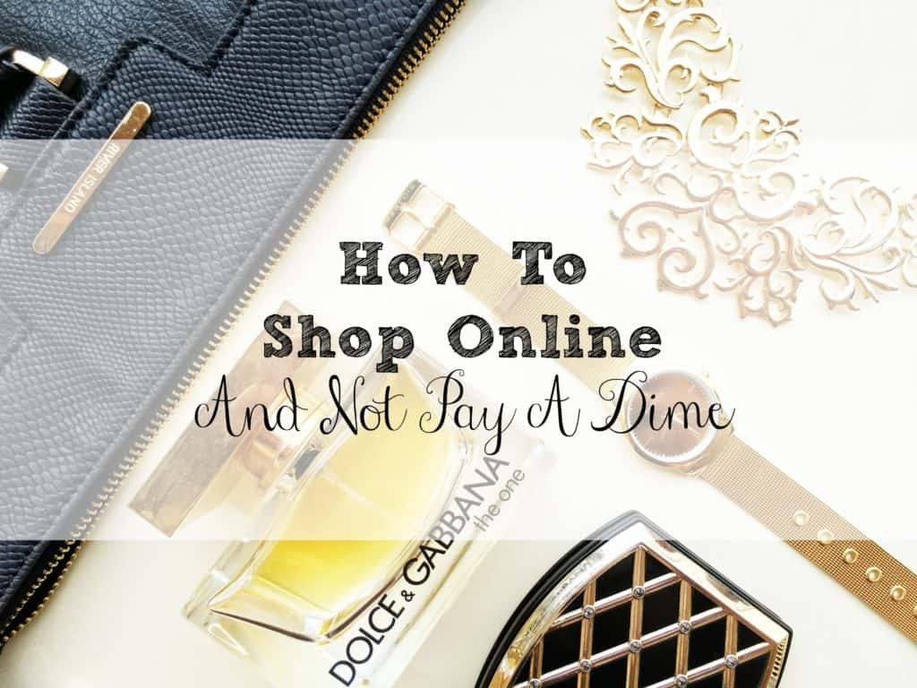 Journal in the background with the title of article in front. Article is Titled: How to Shop Online and Not Pay a Dime