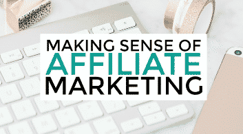 affiliate marketing image of keyboard in background