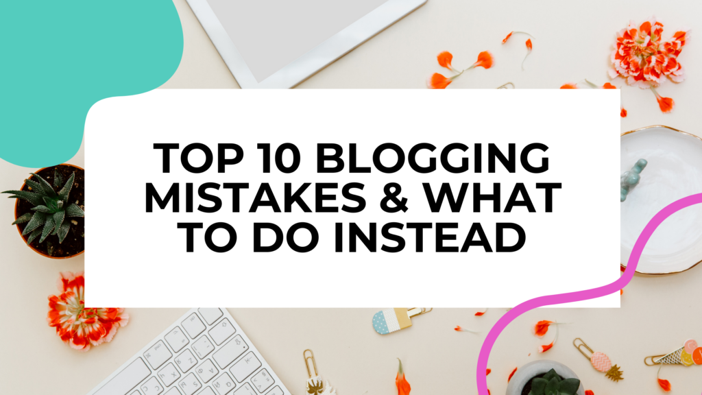 blogging mistakes featured image