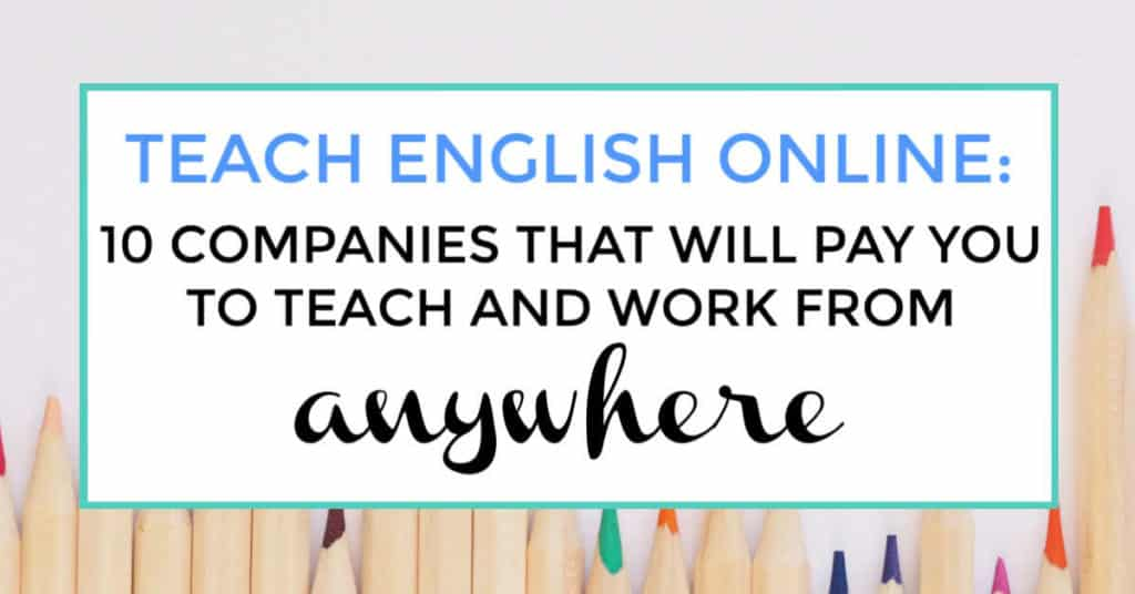 teach english online. featured image