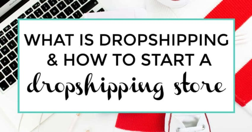 What is dropshipping and how to start a dropshipping store. Image of keyboard in background