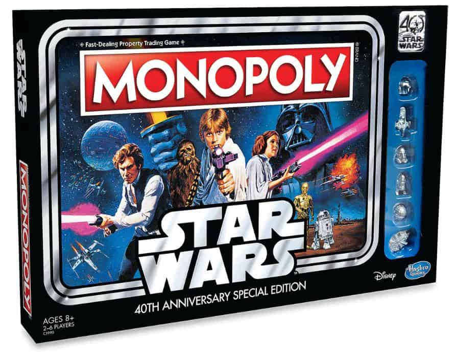 star wars monopoly thrift store flipping. Image of Star Wars 40th anniversary Monopoly addition.