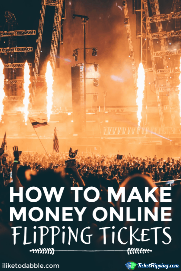 How to make money online ticket flipping legally. Note your local state and venue restrictions though. Image of outdoor concert stage.  #sidehustle #ticketflipping