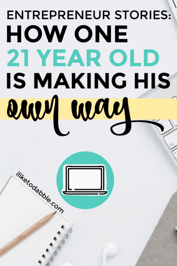 Entrepreneur stores: How one 21 year old is diving face first into the world of freelancing and working for himself.  Image of laptop and journal with pencil in background. #entrepreneur #entrepreneurstories #entrepreneurlife #sidehustles