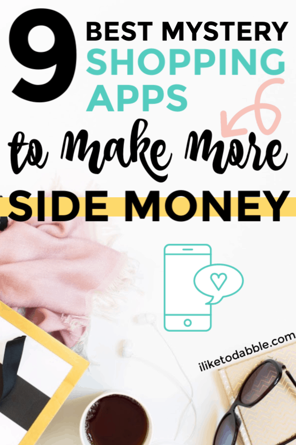 9 best mystery shopping apps to make more side cash. Side hustle using only your smart phone and make up to $200 per job. Image of sunglasses, scarf and tea cup in the background. #mysteryshopping #sidehustles #getpaidtoshop #secretshopper