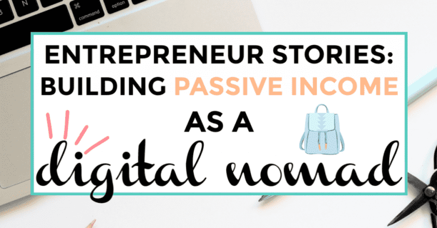 Entrepreneur stories: Building Passive Income as a Nomad, image of keyboard in the background.