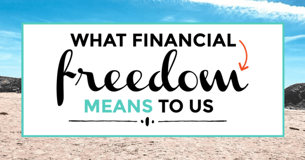 financial freedom. featured image of beach in the background.