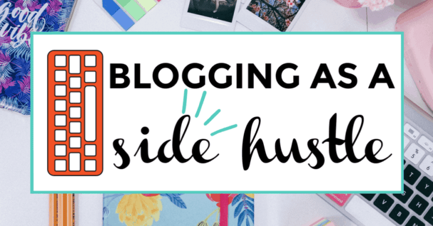blogging as a side hustle featured image