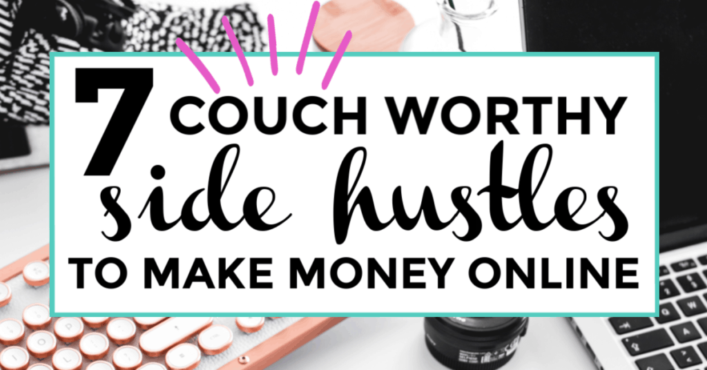 Couch worthy side hustle.s featured image of laptop in background.