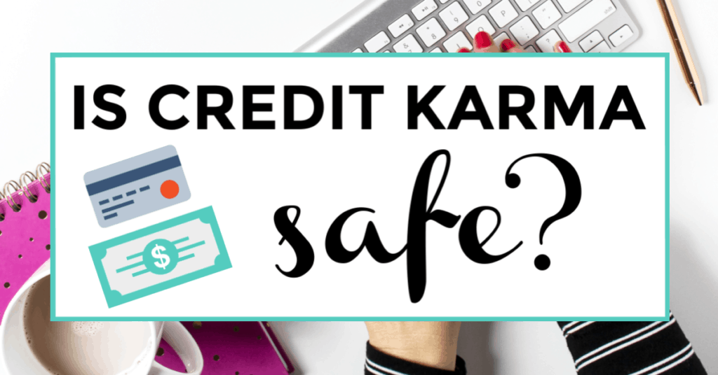 credit karma review. featured image of keyboard and journal in background.