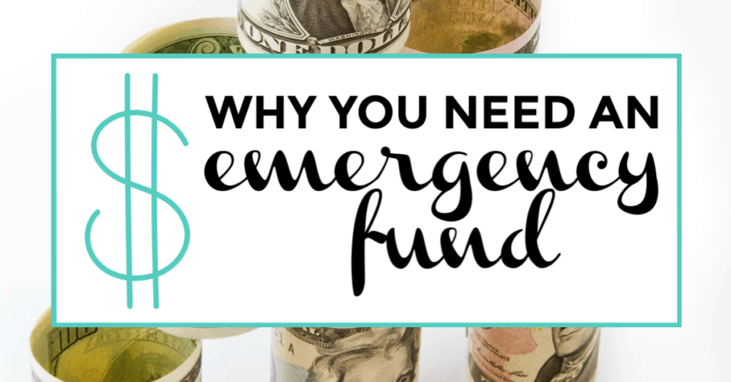 emergency fund. featured image of coin jar in background.