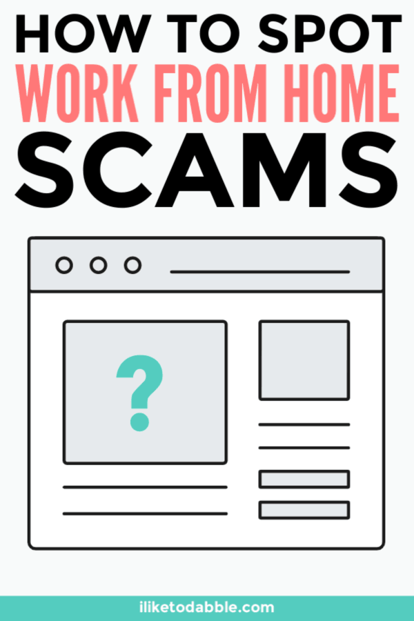 Watch out for these red flags when looking for work from home jobs and opportunities. #workfromhome #workfromanywhere #workfromhomescams #workremote #makemoney #sidehustle #workonline #onlinework #jobscams