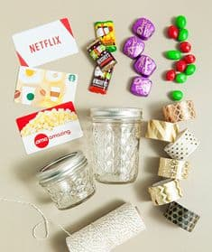 gift card in a jar of candy