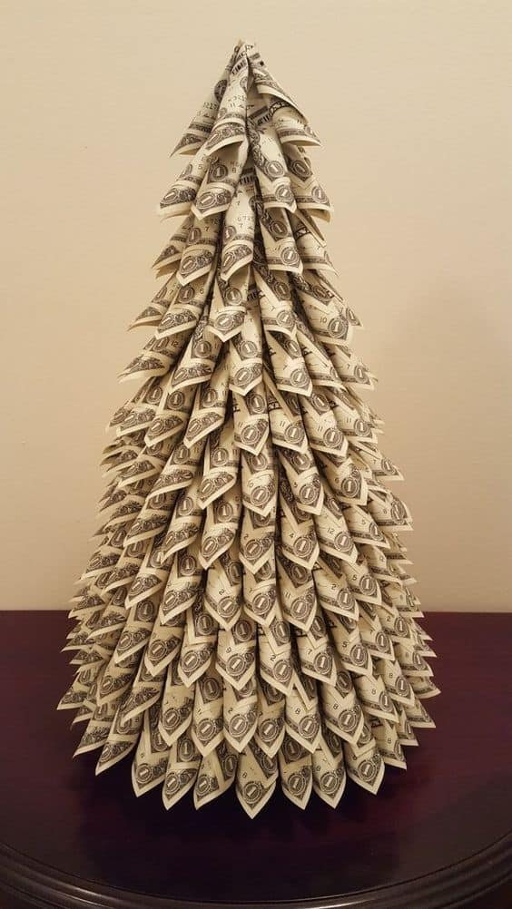 tree made out of money