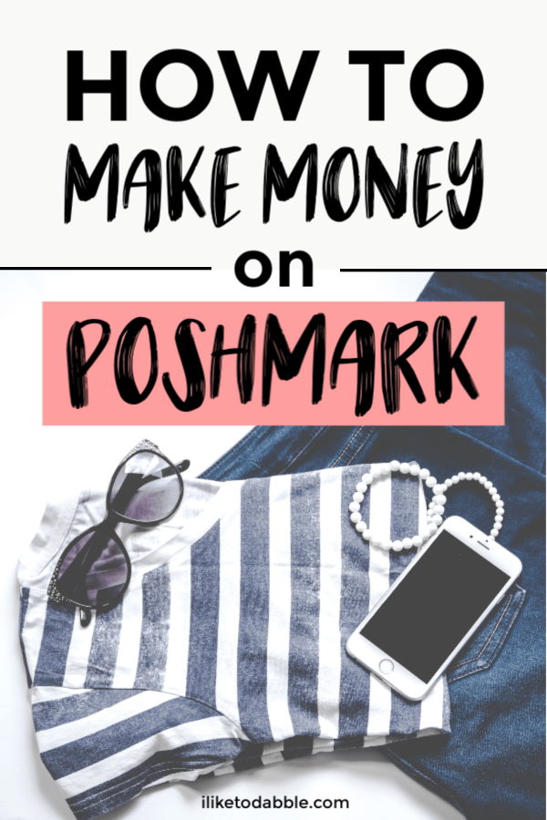 This in depth review of poshmark will show you everything you need to do to make money selling on poshmark. Image of shirt, sunglasses, necklace, and jeans. #reseller #sellonline #makemoneyonline #makemoney #poshmark #sidehustle #sidehustleideas #makemoneyfast #sellitemsonline #onlineseller #sellonline #sidehustleapps #resellerapps