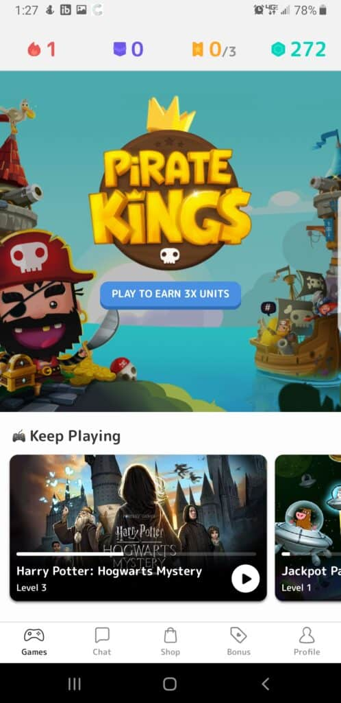 Mistplay review - featured game section - Pirate Kings Screenshot