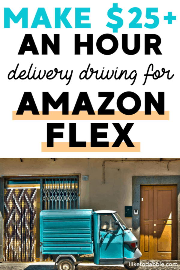 Amazon flex drivers make up to $25 an hour or more with tips. Read more how you can make extra money with Amazon . Image of truck with amazon boxes. #makemoney #sidehustle #amazonflex #sidegig #moneymakingapps #amazon #makemoneyonline #makeextramoney #sidehustles